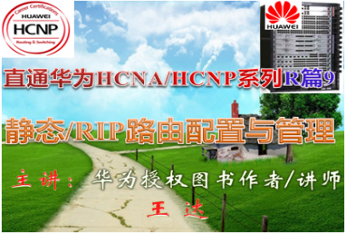【直通华为HCNA/HCNP系列R篇9】静态/RIP路由配置与管理