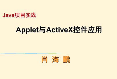 项目实战:Java Applet与ActiveX控件应用