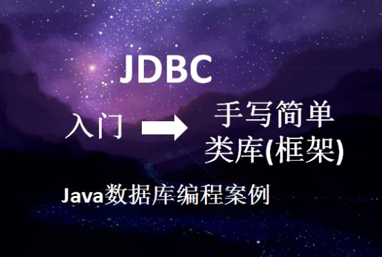 JDBC从入门到手写简单框架实战案例  title=