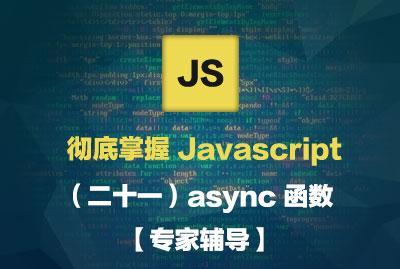 彻底掌握 Javascript(二十一)async 函数【专家辅导】