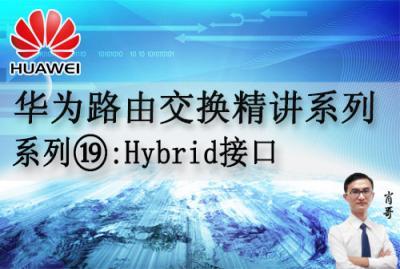 华为路由交换精讲系列19:Hybrid接口 [肖哥]视频课程