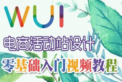 【吴刚】电商活动站设计初级入门标准视频教程