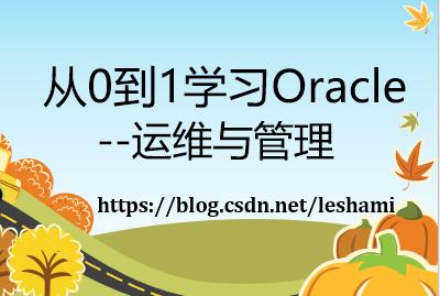 从0到1学习Oracle -- 运维与管理