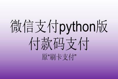 微信支付python版2.0_付款码支付