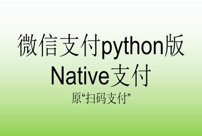 微信支付python版2.0_Native支付