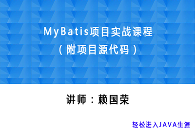 MyBatis入门到精通项目实战精品课程(附项目源代码)