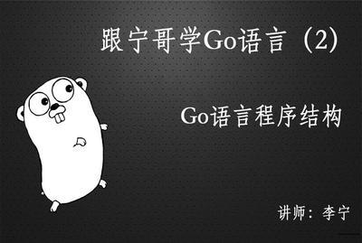 跟宁哥学Go语言(1):Go语言入门视频教程