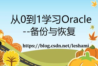 从0到1学习Oracle--备份与恢复