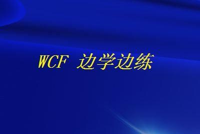 WCF 边学边练