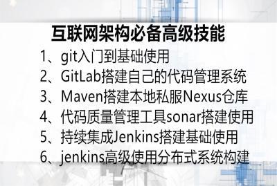 18年新Jenkins持续集成 Git Gitlab Sonar视频教程
