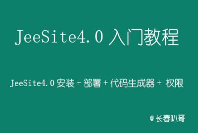 JeeSite4.0入门必备教程