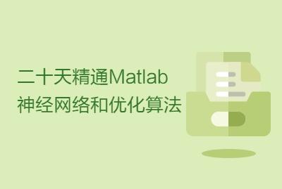 二十天精通Matlab神经网络和优化算法