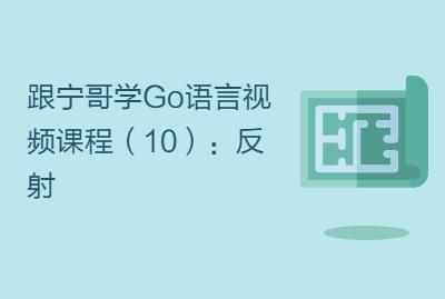 跟宁哥学Go语言视频课程(10):反射