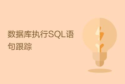 数据库执行SQL语句跟踪