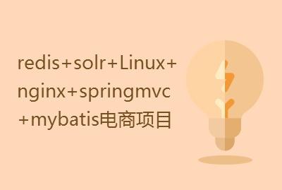 大型分布式redis+solr+Linux+nginx+springmvc+mybatis电商项目