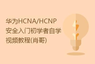 华为HCNA/HCNP安全入门初学者自学视频教程(肖哥)