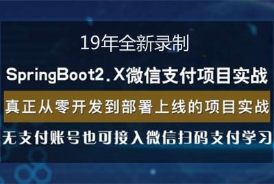 19年录制SpringBoot2.x整合微信支付在线教育网站项目实战