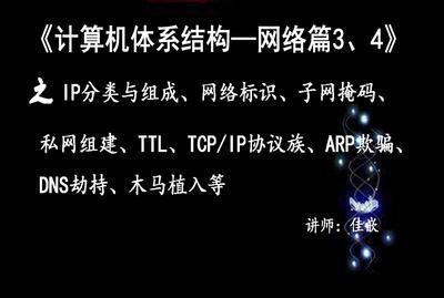 《计算机体系结构—网络篇3、4》之IP分类与组成、网络标识、子网掩码、私网组建等