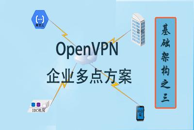 基礎架構之三--OpenVPN多點企業解決方案