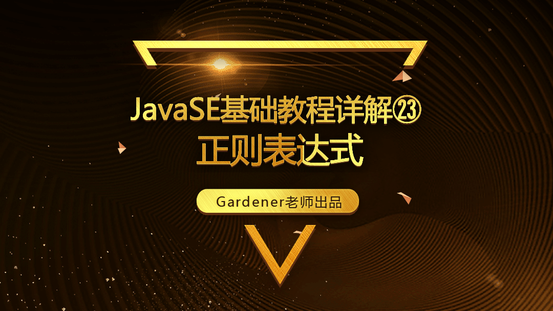 JavaSE基础视频精讲㉓:正则表达式