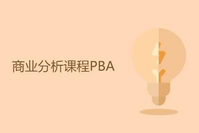 商业分析课程PBA