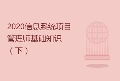 2019信息系统项目管理师基础知识(下)