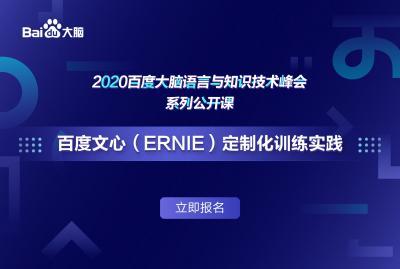 百度文心(ERNIE)定制化训练实践